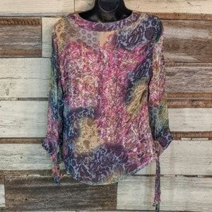Coldwater Creek Tops - Coldwater Creek Breezy Boho Silk Smock Top sz S